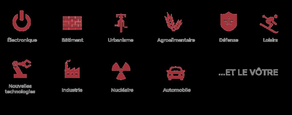 icônes secteurs d'activité